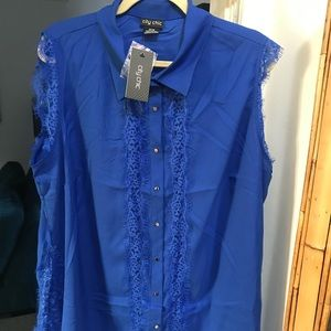 City Chic size Medium women's sleeveless blouse